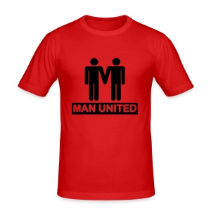 Man United black on red - Men's Slim Fit T-Shirt