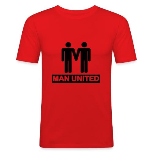 Man United black on red - Men's Slim Fit T-Shirt