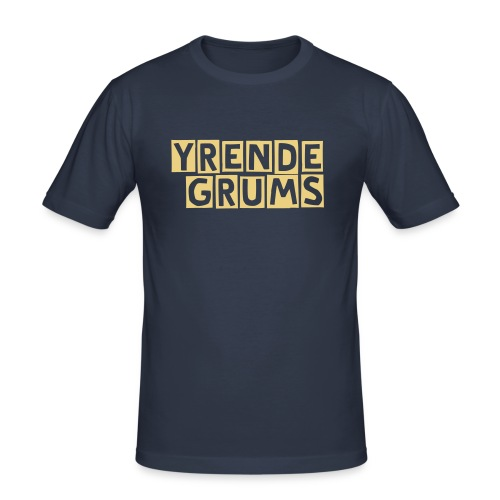 Yrende Grums - Slim Fit Tee - Slim Fit T-skjorte for menn