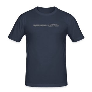 Synewave Records T-Shirt  Special Series (Grey logo) - Men's Slim Fit T-Shirt