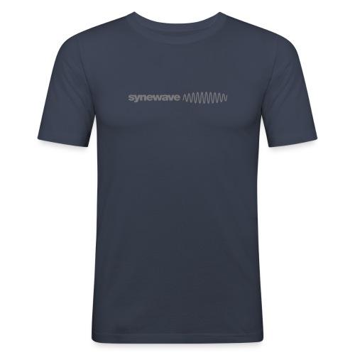 Synewave Records T-Shirt  Special Series (Grey logo) - Men's Slim Fit T-Shirt