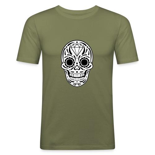 Sugar skull - T-shirt près du corps Homme