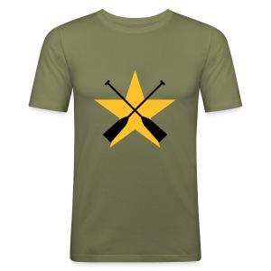 Stern Paddel - Männer Slim Fit T-Shirt