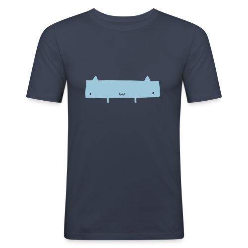 Widecat Dark Navy - Men's Slim Fit T-Shirt