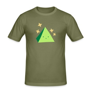 Pyramid T-Shirt Green - Men's Slim Fit T-Shirt