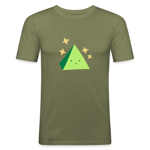 Pyramid T-Shirt Green - Men's Slim Fit T-Shirt