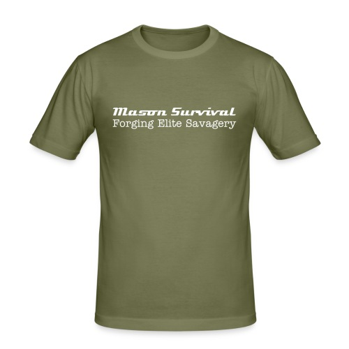 Mason Survival Strong People are harder to kill  T-Shirt - Men's Slim Fit T-Shirt