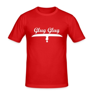 Men's Slim Fit T-Shirt - For when the day goes really bad on the water...all that is left to do is to 'glug glug'