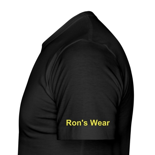 Ron's Wear (Men) don't ask me black/yellow - slim fit T-shirt