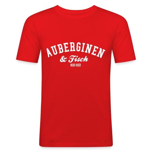 AuberginenFisch - Männer Slim Fit T-Shirt