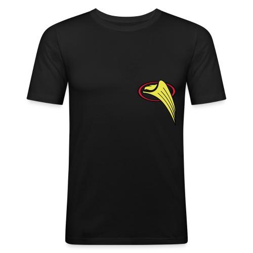 Männer Slim Fit schwarz - Greifs-Logo & Schriftzug - Männer Slim Fit T-Shirt