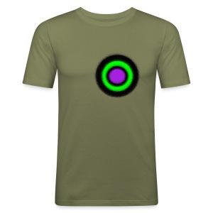 """Men Shirt - """"Target Circle Olive"""" - Männer Slim Fit T-Shirt"""