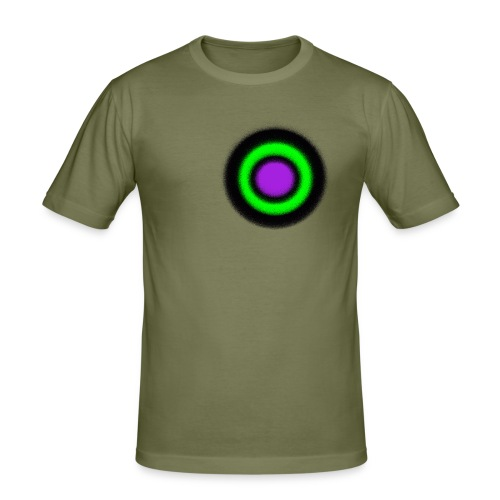 "Men Shirt - ""Target Circle Olive"" - Männer Slim Fit T-Shirt"