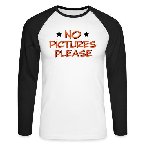 Męska koszulka z długim rękawem ! - Koszulka męska bejsbolowa z długim rękawem