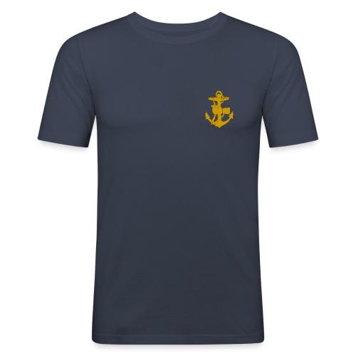 Märke v. bröst. TEXT PÅ RYGGEN - Slim Fit T-shirt herr