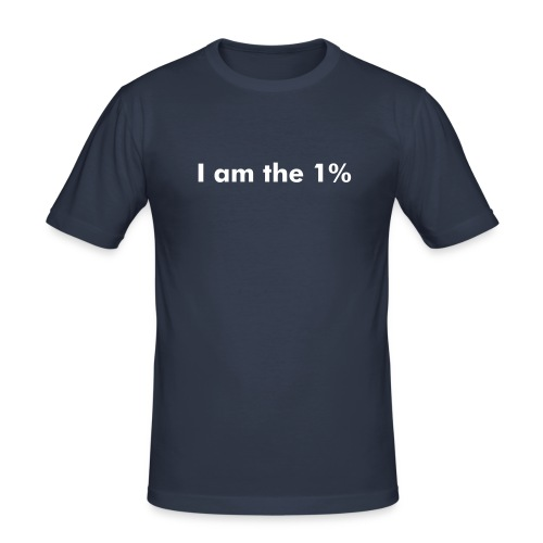I am the 1% - mens - Men's Slim Fit T-Shirt