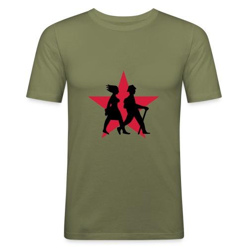 Wanderer - Männer Slim Fit T-Shirt