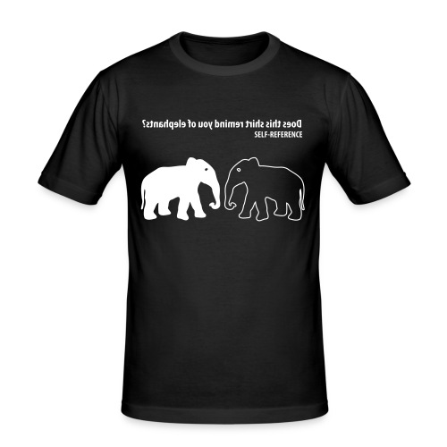 Self Reference   Wit   M   Slim Fit - slim fit T-shirt