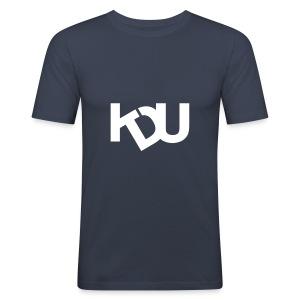 KDU Stor logga - Slim Fit T-shirt herr