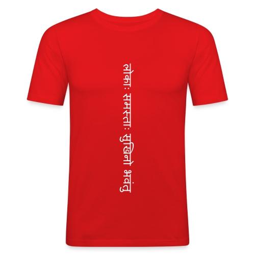 lokah samasta sukhino bhavantu - red - Männer Slim Fit T-Shirt