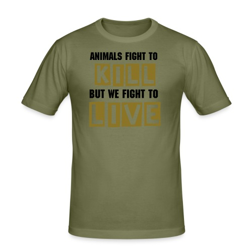 FIGHT TO LIVE - Slim Fit T-shirt herr