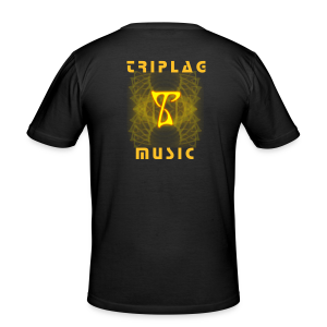 Triplag Music two sides - Forest - Men's Slim Fit T-Shirt