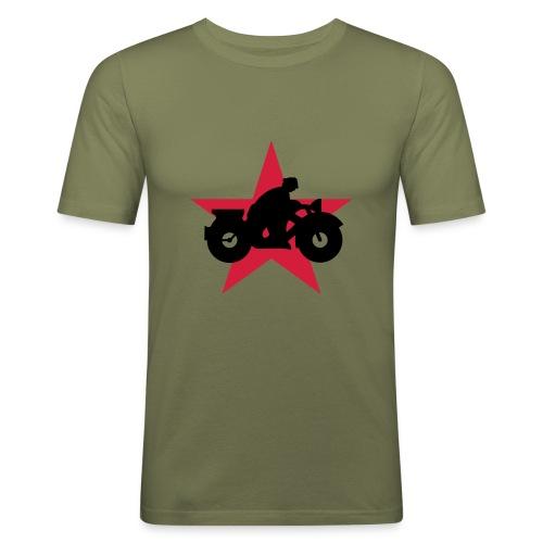 Motorrad 4 Stern - Männer Slim Fit T-Shirt