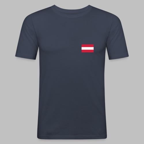 Österreich (Flagge auf Brust) - Männer Slim Fit T-Shirt - Männer Slim Fit T-Shirt