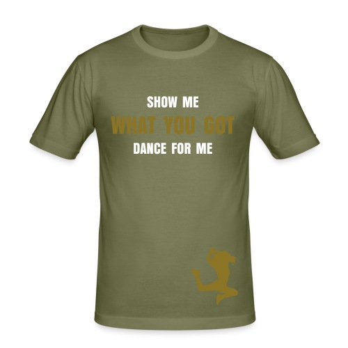 Dance for me, gold - Slim Fit T-shirt herr