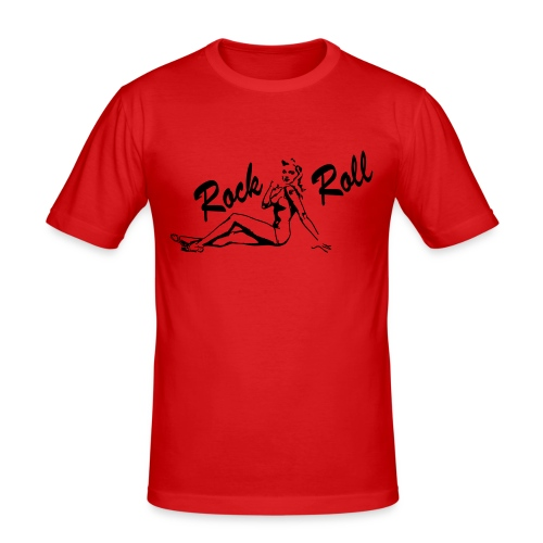 Lucky Aces - Rock 'n' Roll Pin Up - Männer Slim Fit T-Shirt