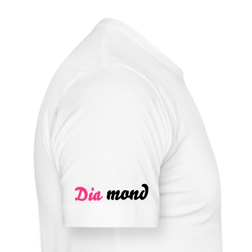 Diamond  White/Pink and Black - Men's Slim Fit T-Shirt