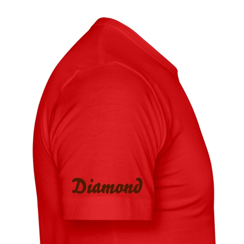 Diamond Red/Brown - Men's Slim Fit T-Shirt