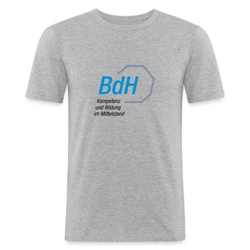 BdH-Logo grau - Männer Slim Fit T-Shirt