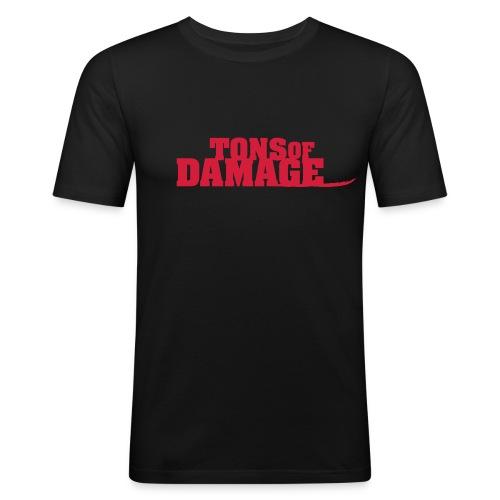 Tons of Damage - Männer Slim Fit T-Shirt
