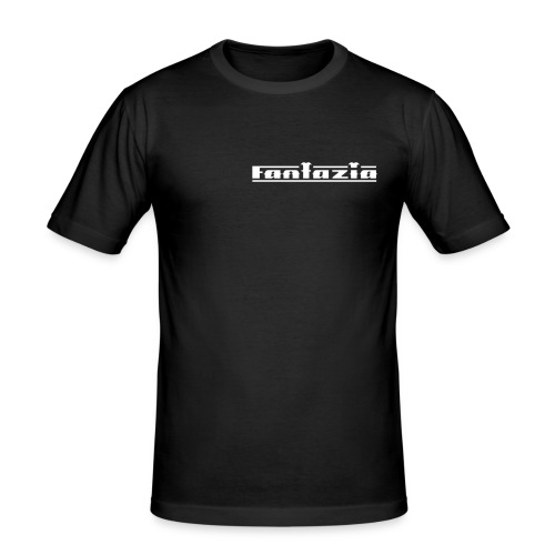 Fantazia Logo to front & Smiley Face logo to the rear - Men's Slim Fit T-Shirt