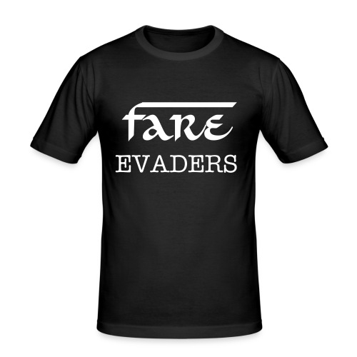 Fare Evaders Plain black mens tshirt - Men's Slim Fit T-Shirt
