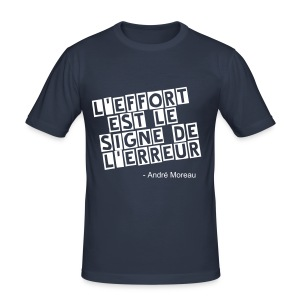 André Moreau -citation - Tee shirt près du corps Homme