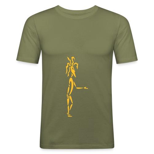 Bonhomme aux dreadlocks - T-shirt près du corps Homme
