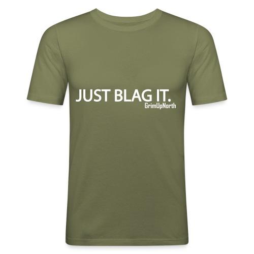 Just Blag It - Grim - Men's Slim Fit T-Shirt