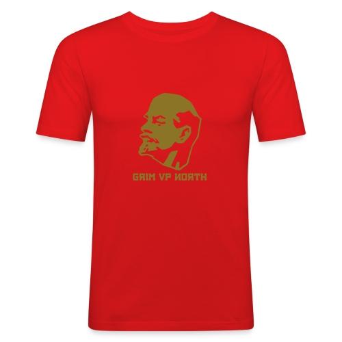 Lenin (Gold Metallic) - Men's Slim Fit T-Shirt