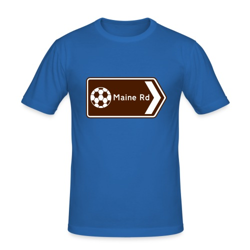 Maine Road - Tourist Sign - Men's Slim Fit T-Shirt