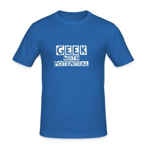 Geek with potential - Men's Slim Fit T-Shirt