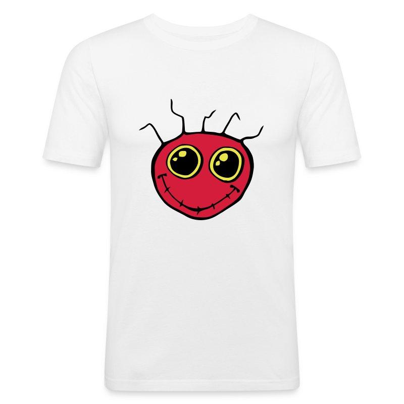 Fantazia Classic red smiley logo - Men's Slim Fit T-Shirt