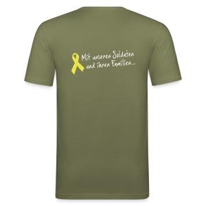 Gelbe Schleife Solidarität SlimFit - Männer Slim Fit T-Shirt