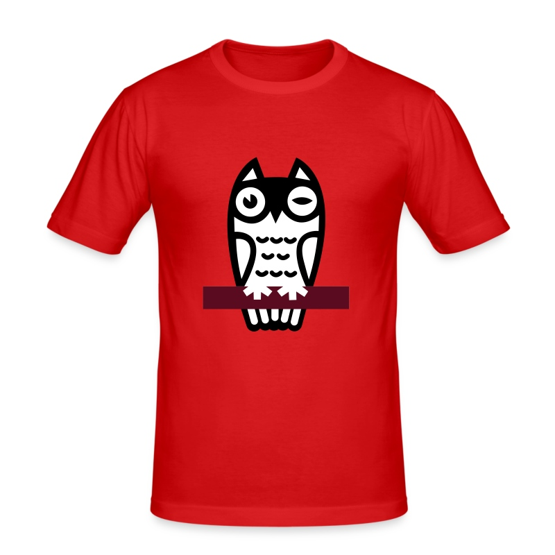 Owl - Men's Slim Fit T-Shirt