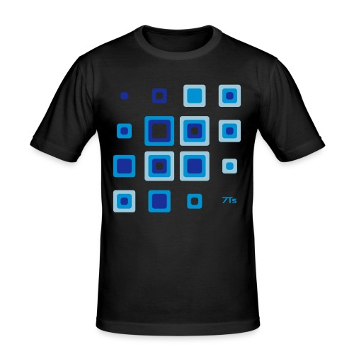 Future retro BLUE from 7Ts - Men's Slim Fit T-Shirt
