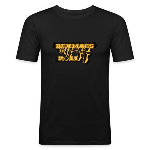 Denmacs_schwarz - Männer Slim Fit T-Shirt