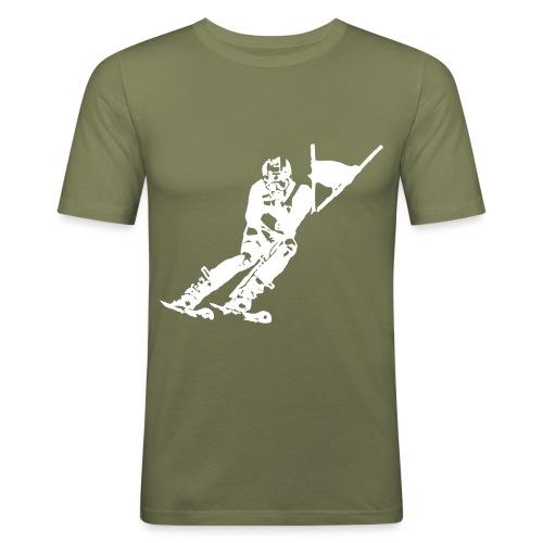 Skieur de descente - Tee shirt près du corps Homme