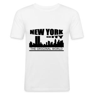 T shirt homme new york city - Tee shirt près du corps Homme