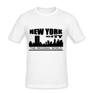 T shirt homme new york city - Tee shirt près du corps Homme